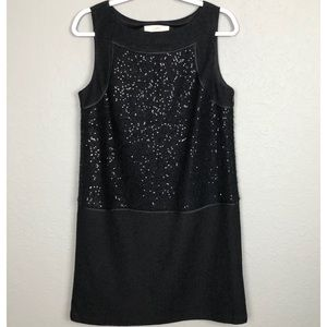 Ann Taylor Loft Sequin Wool Blend Dress
